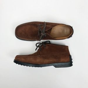Tod's Moc Toe Suede Chukka Boots Size 36